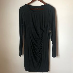NWT Tart Dress | Black Long Sleeve Rouched Waist L
